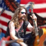 """American Flag and Birdland Guitar"""