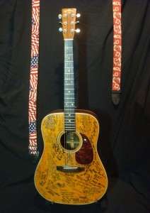 The Signature Martin D28 with USA and Canadian Flags Straps