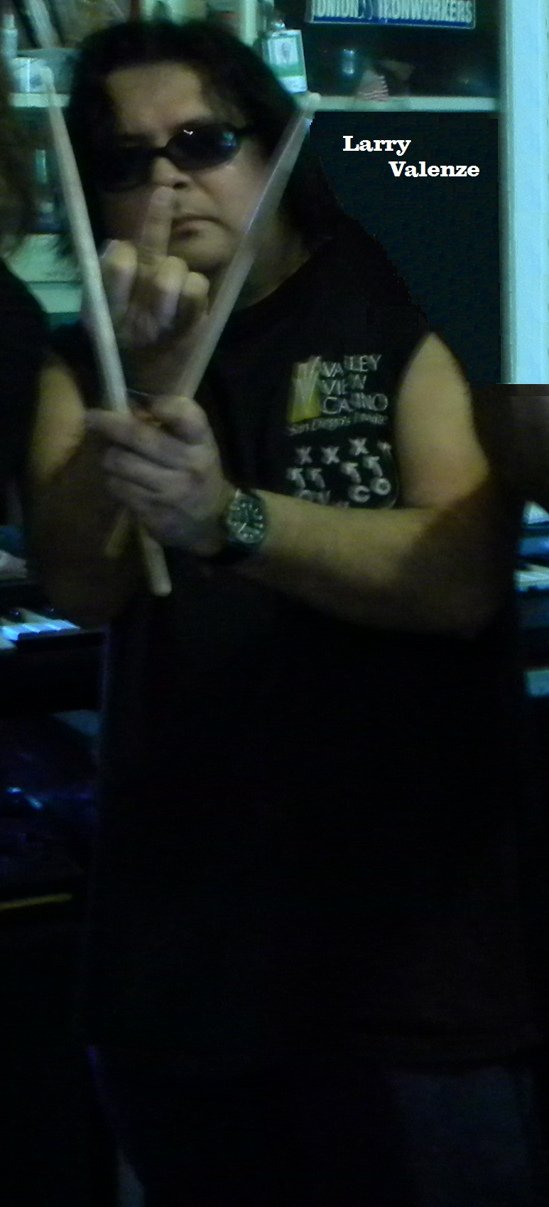 """Larry Valenze drummer for Shane O'Brien for the Walkers Cafe gig"""