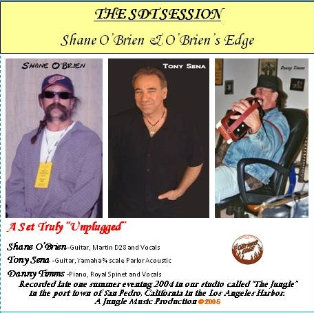 """Shane O'Brien CD release titled THE SDT SESSION c2005"""""""