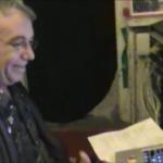 """Host Mike Watt of twfps on location at Shane O'Briens studio"""