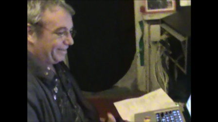 """Host Mike Watt of twfps on location at Shane O'Briens studio"""