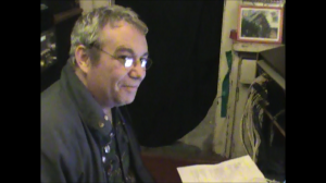 Mike Watt in the Jungle Studio hosting twfps 3 13 2012