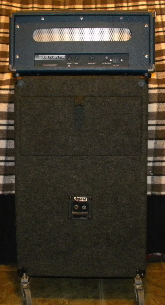 UGLY-18 Tube Amp and TUBE WORKS Speaker Cabinet _ Rear Views