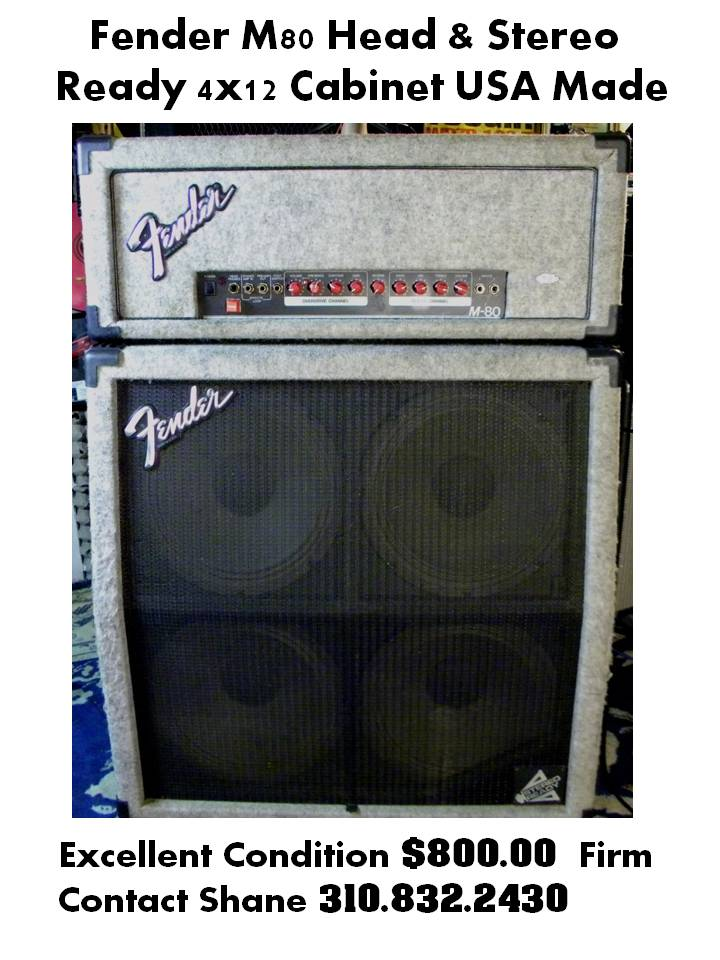 Fender M-80 Head and matching 4x12 Stereo Ready Cabinet