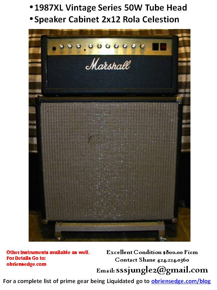 Marshall JCM800 4210 Head 1985 and 2x12 Cab