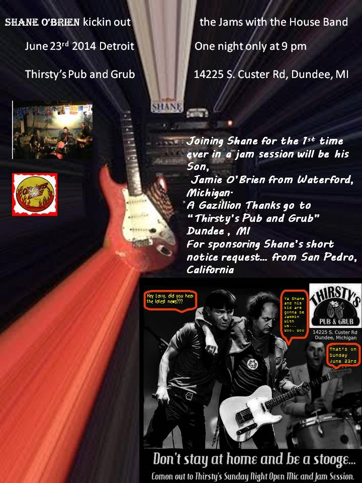 Father and Son Jam at Thirsty's Pub and Grub, Dundee, Michigan